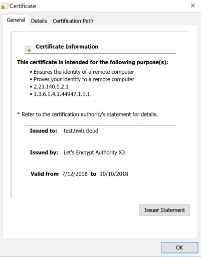 Let's encrypt for ADFS and WAP