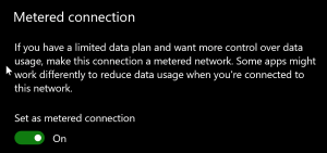 FIX: Setup incomplete because of a metered connection