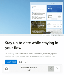 How to remove the News and Interests from the taskbar in Windows 10