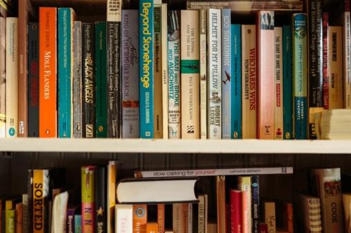 Book shelves by Birmingham photographer Barry Robinson