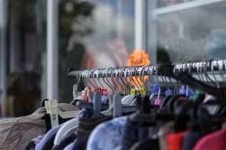 A rail of clothes by Birmingham photographer Barry Robinson