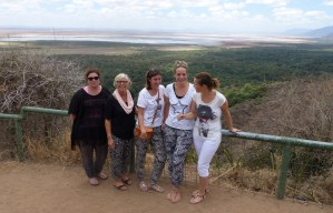 Maggie and The Sprong Family in Lake Manyara View Point