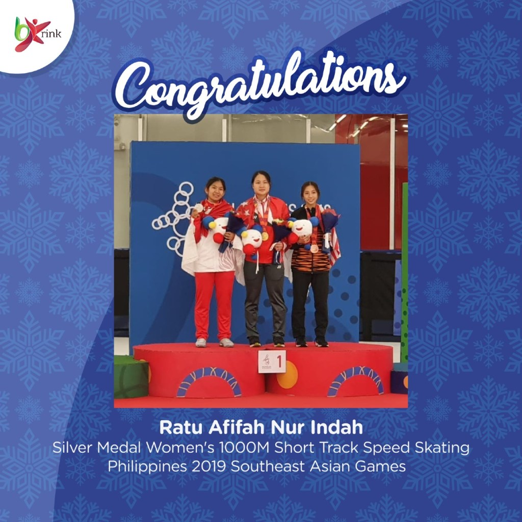 BX Rink Congratulations Ratu Afifah Nur Indah Short Track Speed Skating Indonesia SEA Games 2019
