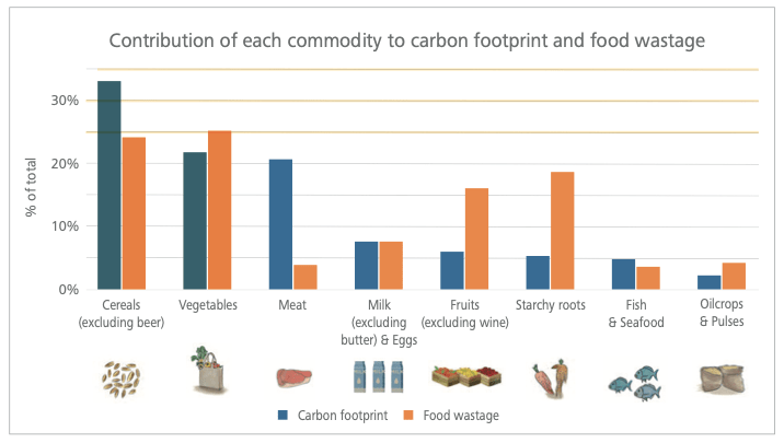 Carbon Footprint wastage graph