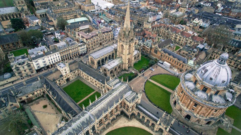 Image of central Oxford from above