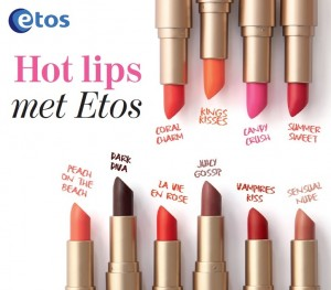 10 nieuwe Etos Colour Care Lipsticks