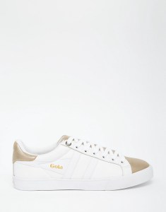 Gola - Orchid Metallic CLA668 - Baskets - Blanc et or - 84.99 €