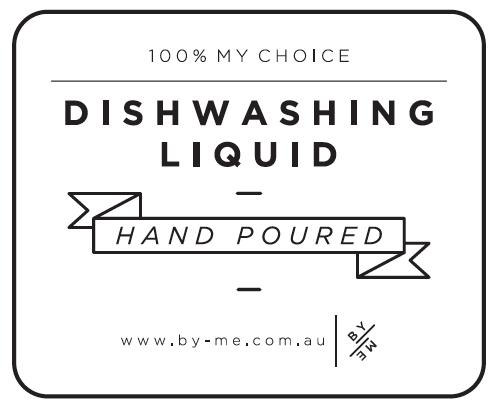 ByMe waterproof designer decal - DISHWASHING