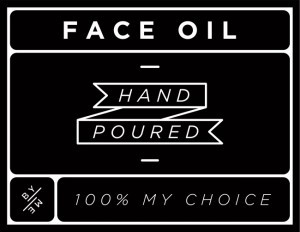 Mini Black Face Oil Decal