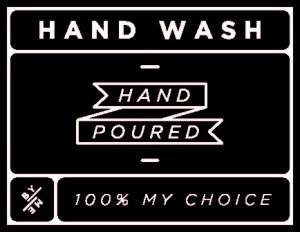 Mini Black Hand Wash Decal