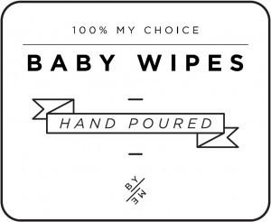 Mini White Baby Wipes Decal