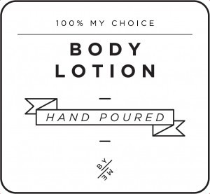 Mini White Body Lotion Decal