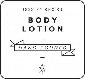 Mini White Body Lotion Decal