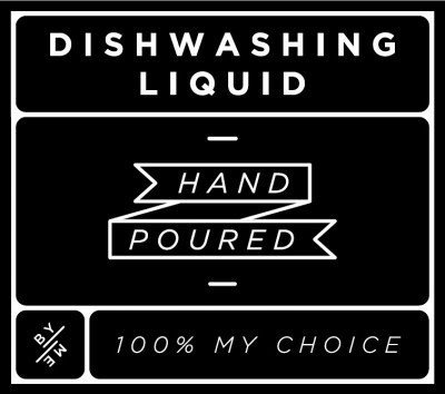 Small Black Dishwashing Liquid Decal