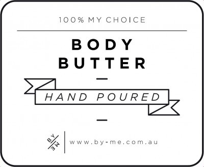 Small White Body Butter Decal