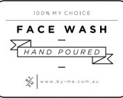 Small White Face Wash Decal