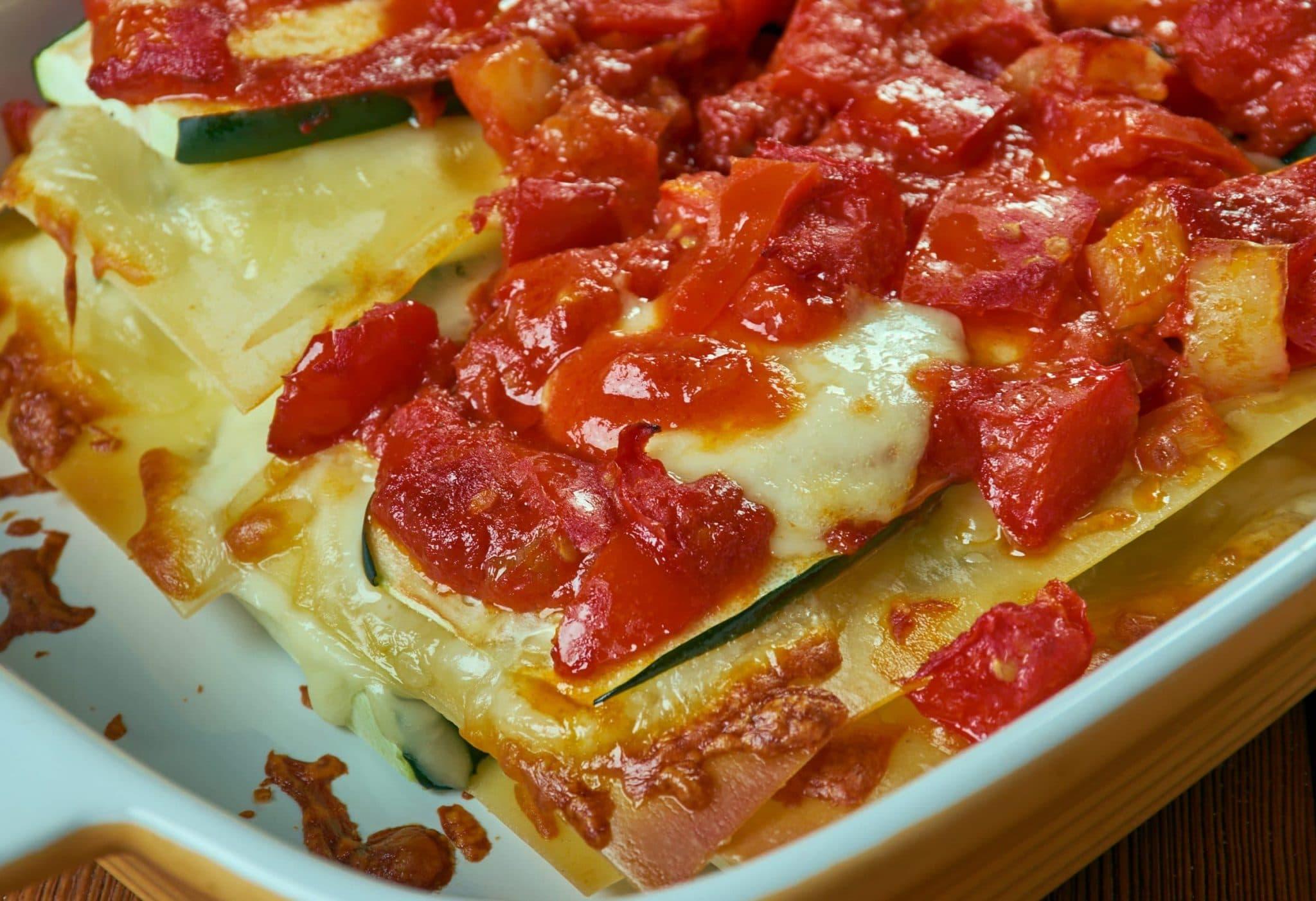 close up of Zucchini Lasagna