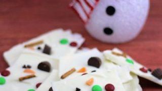 Melting Snowman White Chocolate Bark