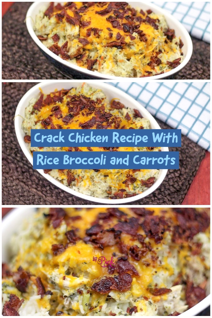 Crack Chicken Recipe With Rice Broccoli and Carrots For Instant Pot tastes great and takes just 30 minutes to make! #carrots #broccoli #vegetables #garlic #vegetable #rice #chicken #ranch