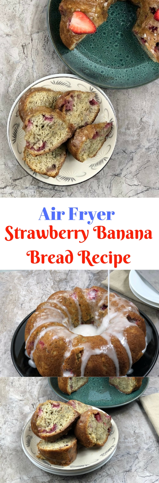 Air Fryer Strawberry Banana Bread Recipe ⋆ by Pink