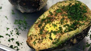 Air Fryer Baked Avocado Egg
