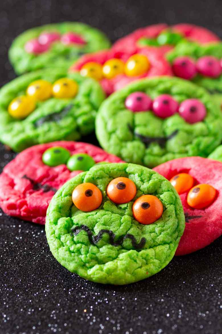 Halloween Cookie Recipes - Monster Cookies