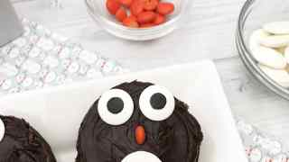 Cute Christmas Penguin Brownies