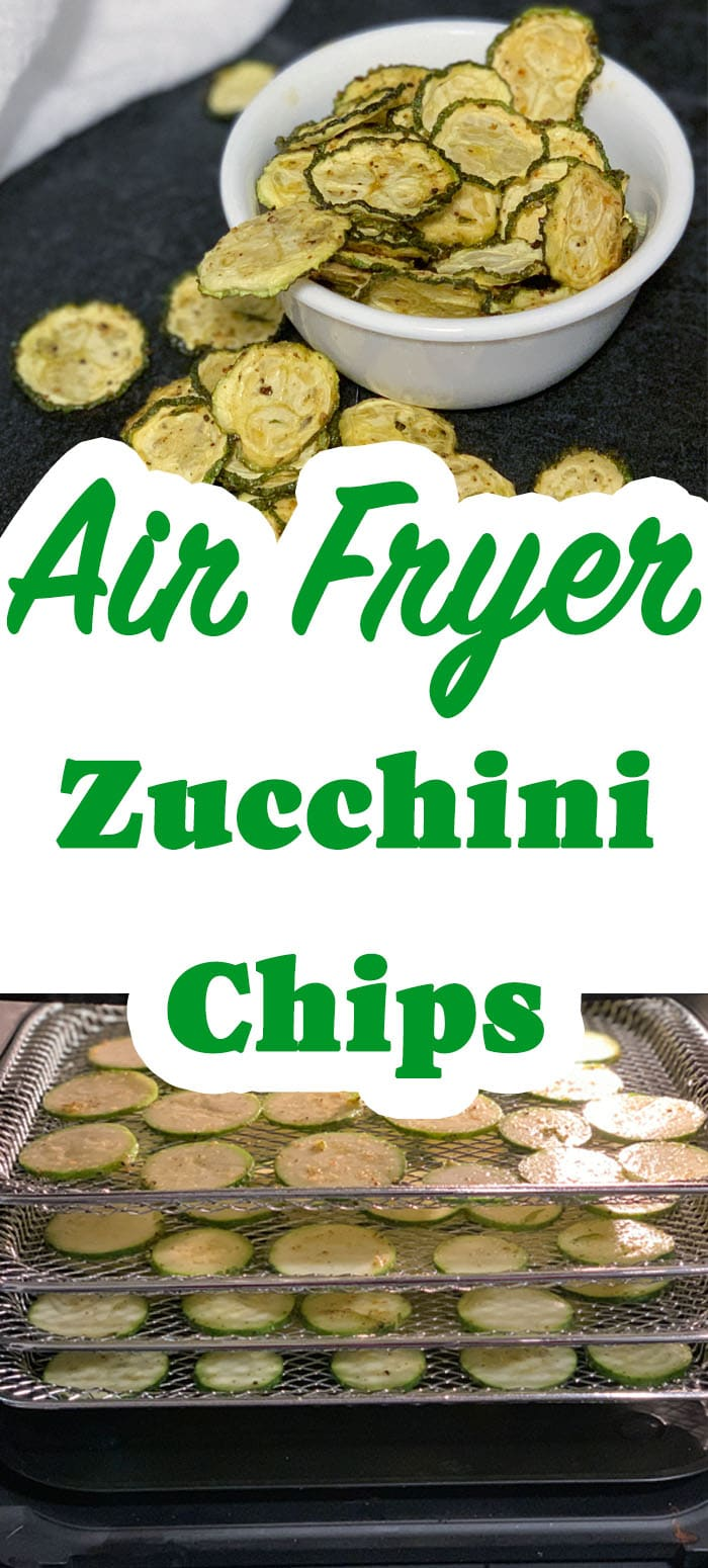 These zucchini chips are only 3 net grams of carbs per serving, a shelf-stable healthy chip and are also a Power Fryer Oven recipe on the dehydrator function. zucchini chips are only 3 net grams of carbs per serving, a shelf-stable healthy chip and are also a Power Fryer Oven recipe on the dehydrator function.#zucchini #zucchinirecipes #lowcarb #keto #healthy #airfryer