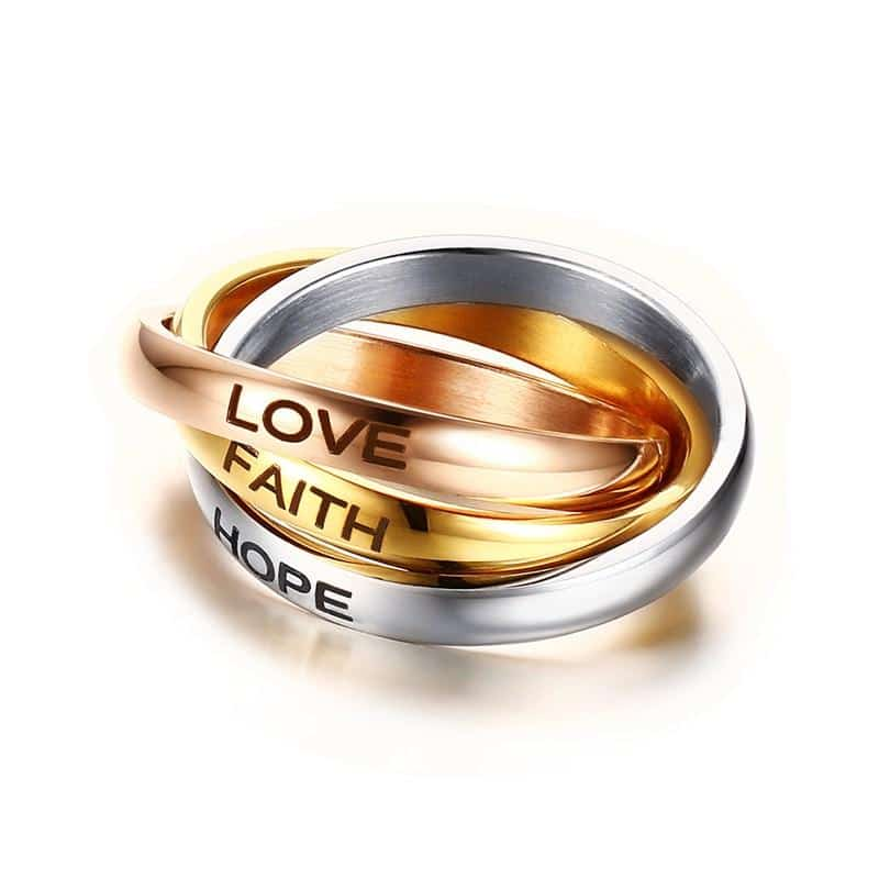 Faith Hope Love Ring