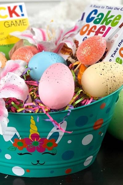 bunnicorn unicorn diy easterbasket full of treats for easter