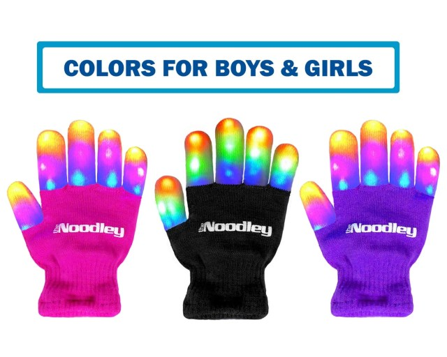 The Noodley Children LED Finger Light Gloves