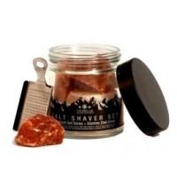 Salt Shaver Set - Himalayan Salt Stones & Stainless Steel Shaver
