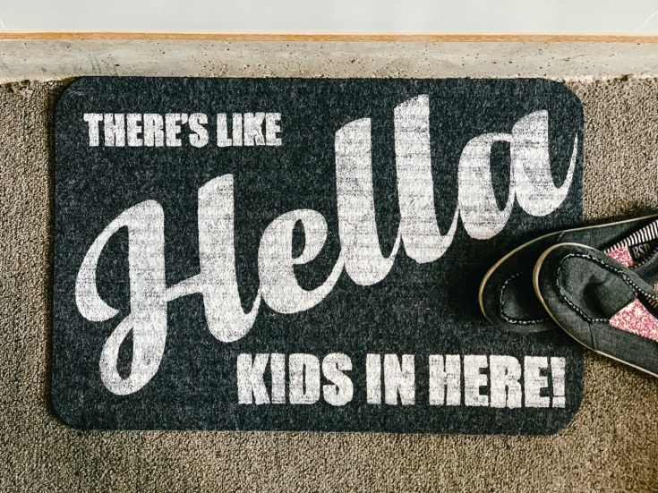 Dollar Tree DIY: Funny Doormat