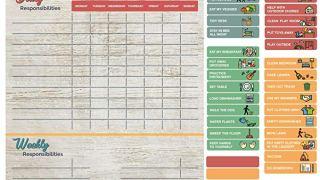 Magnetic Reward Chore Chart