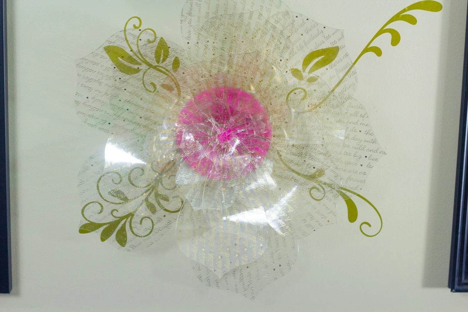 front view of acetate rose tutorial