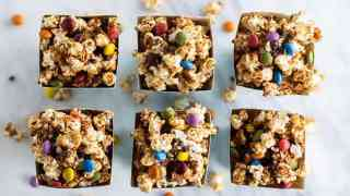 Monster Cookie Caramel Corn - Nut Free!