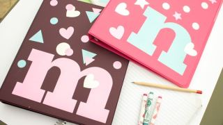 Fun back-to-school project! Easy personalized binders