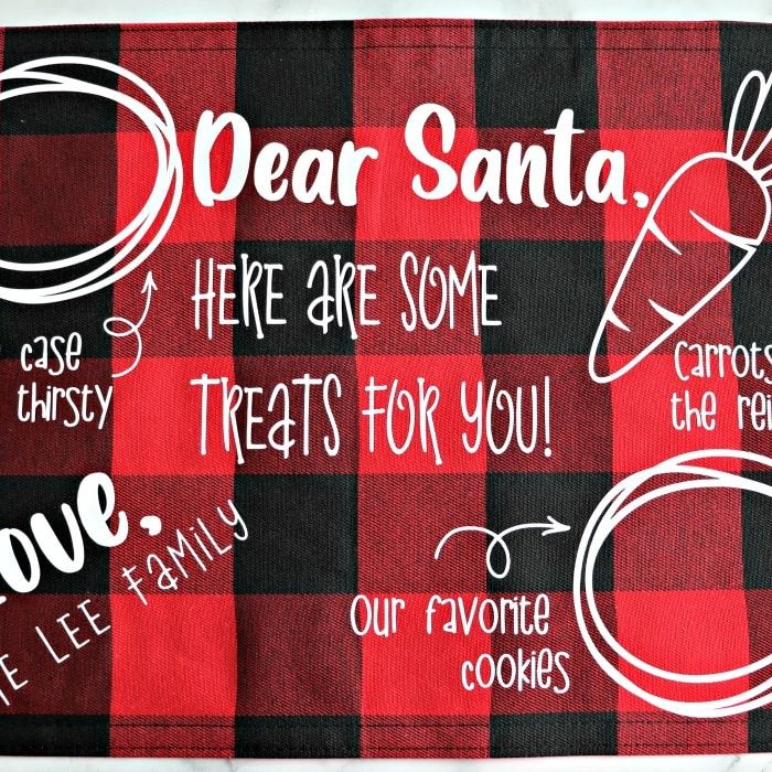 santa snack place mat