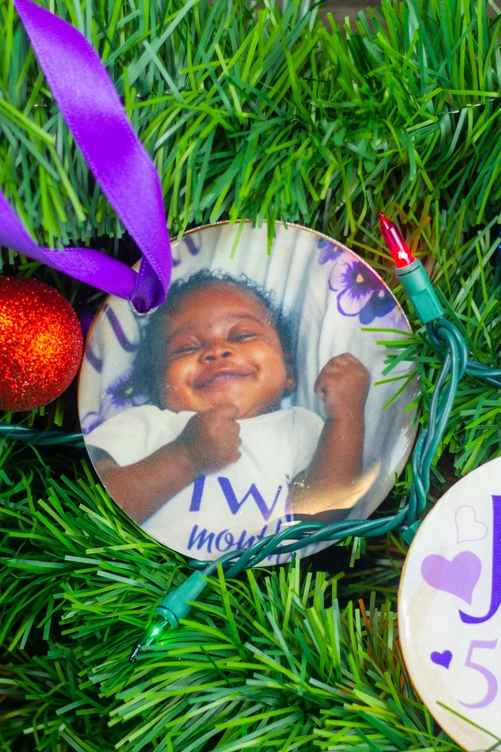 personalized baby first christmas ornamentsmade with the cricut maker