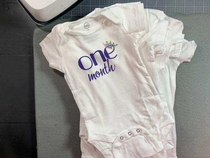 Cricut Baby Milestones by Month Onesies