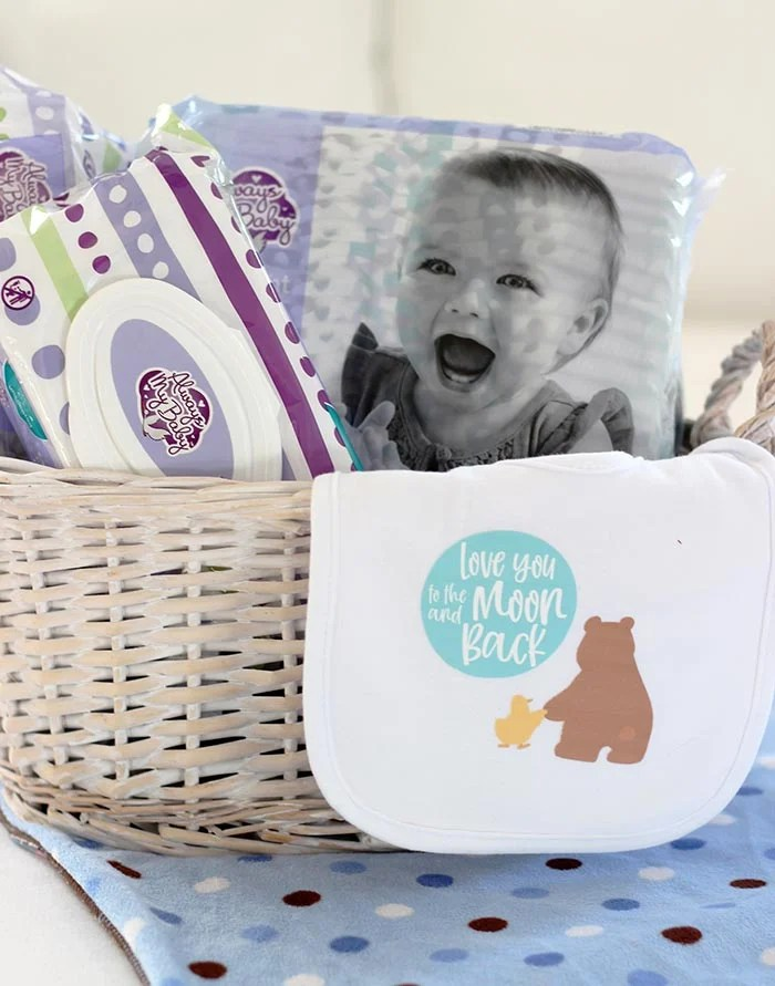 How to Make a Cute & Practical DIY Baby Gift (FREE Cricut File)