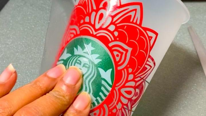 How To Place A Mandala SVG For A Custom Starbucks Tumbler