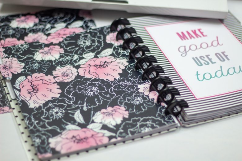 divider for happy planner personal planner cut with cricut out of dollar tree binders