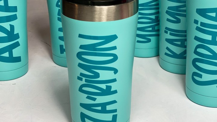 Personalized Coffee Cups With Adhesive Vinyl