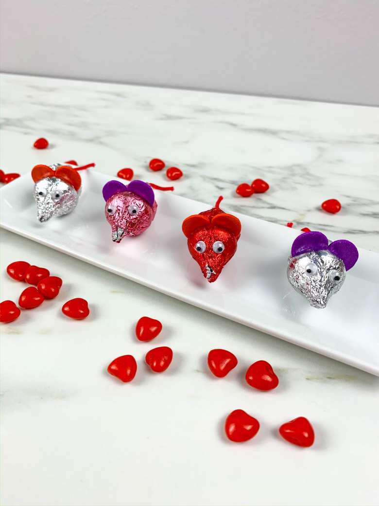 Valentine's Day Hershey's Kisses Mice Craft