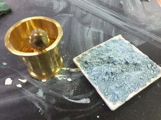 Creating Egyptian blue pigment