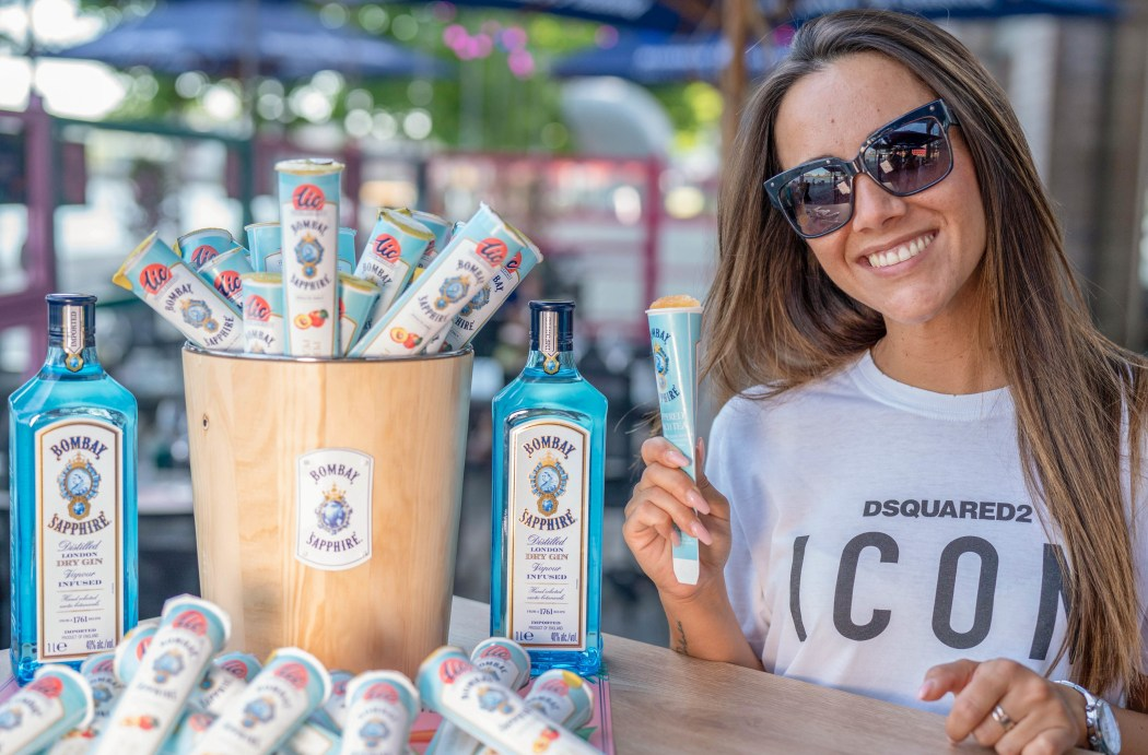 water ice gin bombaby