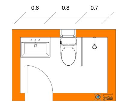 تصميم الحمام الطولى