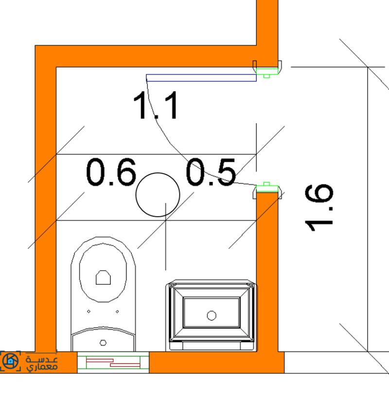 تصميم الحمام الصغير
