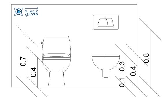 أبعاد المقاعد المستخدمة في تصميم الحمامات